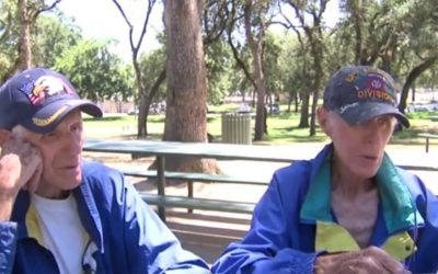 Homeless, 84-year-old war veteran twins say 'it's hell' after foreclosure